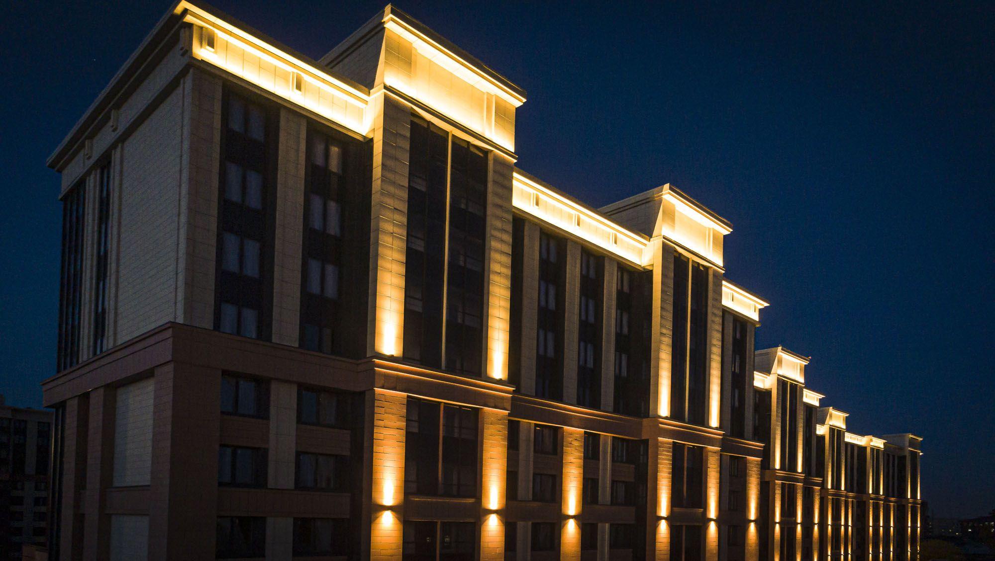 Архитектурная подсветка нового жилого комплекса