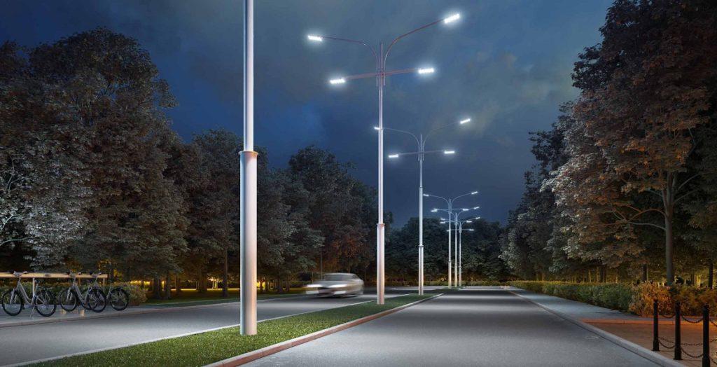 konicheskie opory 1024x524 - Правила выбора уличных консольных светодиодных светильников
