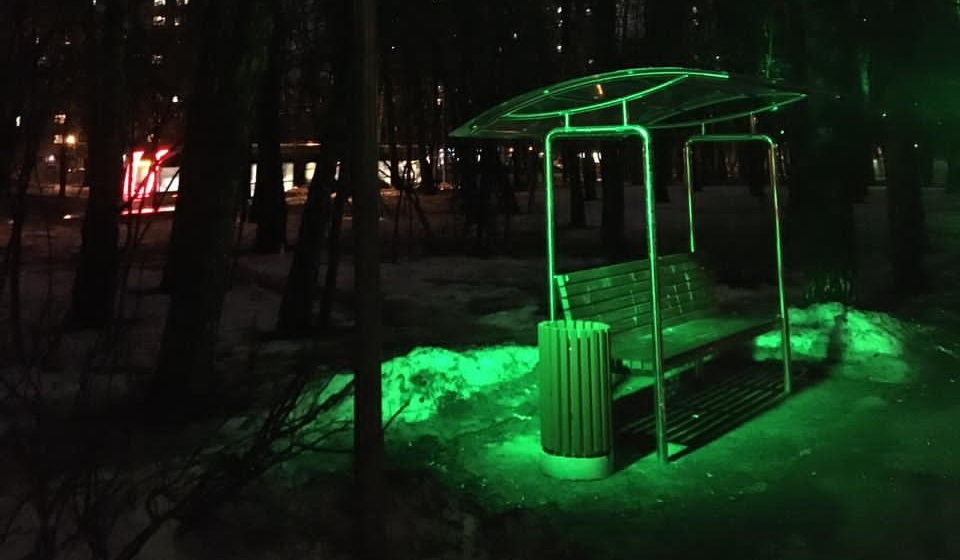 Ландшафтная подсветка парка «Сокольники»